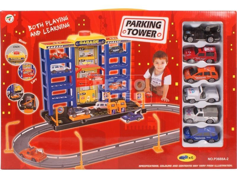 Parking Tower négyemeletes parkolóház autókkal