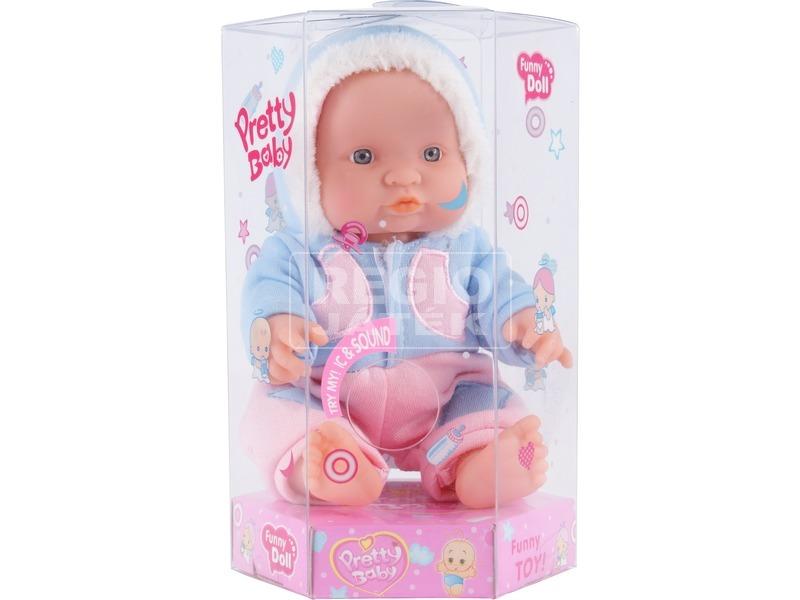 kép nagyítása Játékbaba téli ruhában - 24 cm, többféle