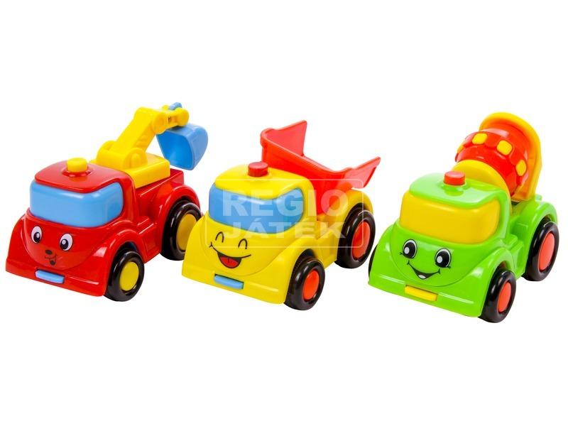 Mosolygó teherautó bébijáték - 9 cm, többféle