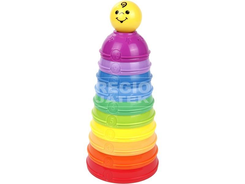 Fisher-Price 10 darabos színes csészepiramis