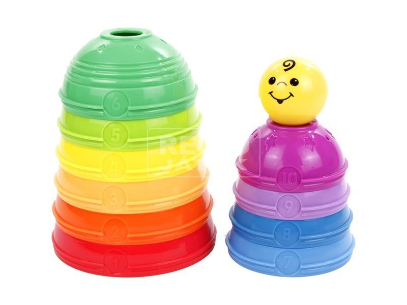 kép nagyítása Fisher-Price 10 darabos színes csészepiramis