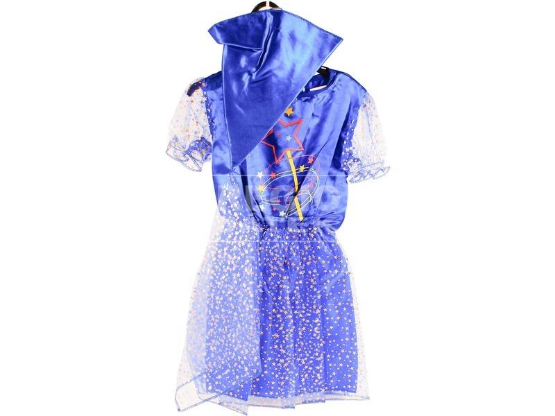 Tündér jelmez - kék, 116-os méret
