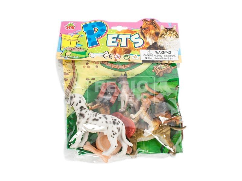 kép nagyítása Műanyag kutyák kiegészítőkkel