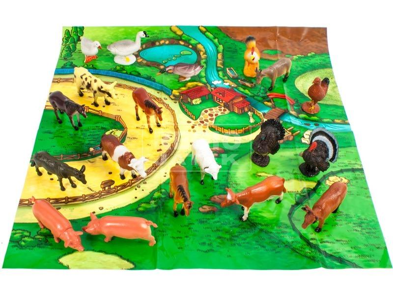 Farm Animals Műanyag háziállat szett 20 db-os