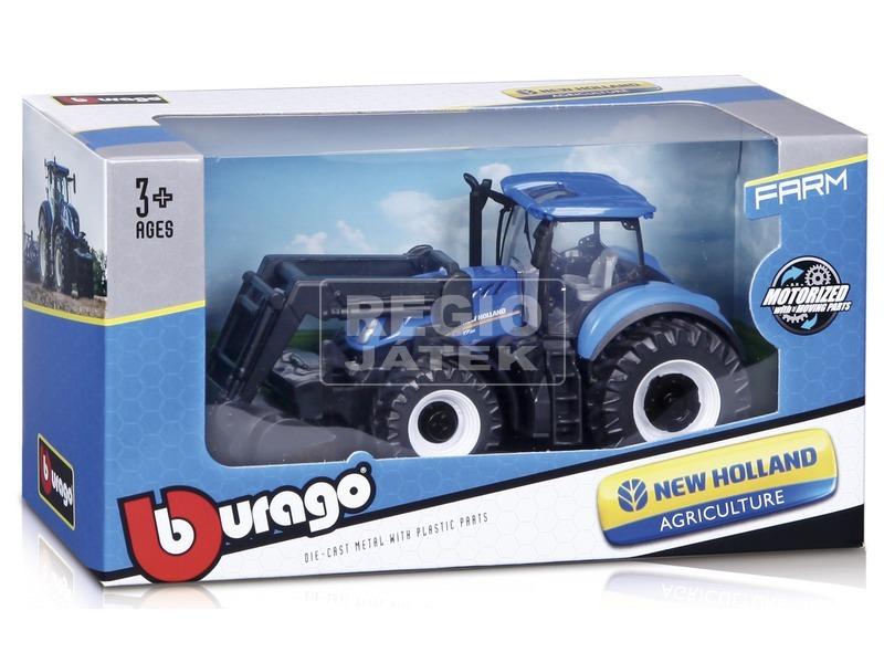 kép nagyítása Bburago traktor emelővel New Holland /Fendt 10 cm