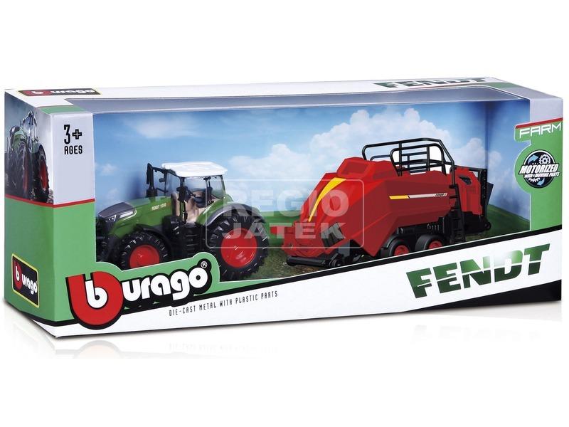 kép nagyítása Bburago New Holland traktor emelővel, 10 cm
