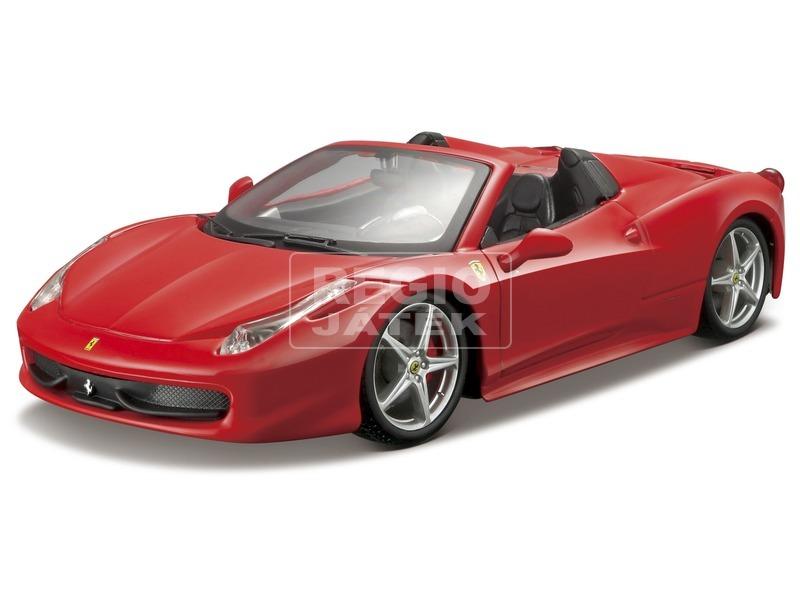 Bburago Ferrari 458 Spider versenyautó 1:24