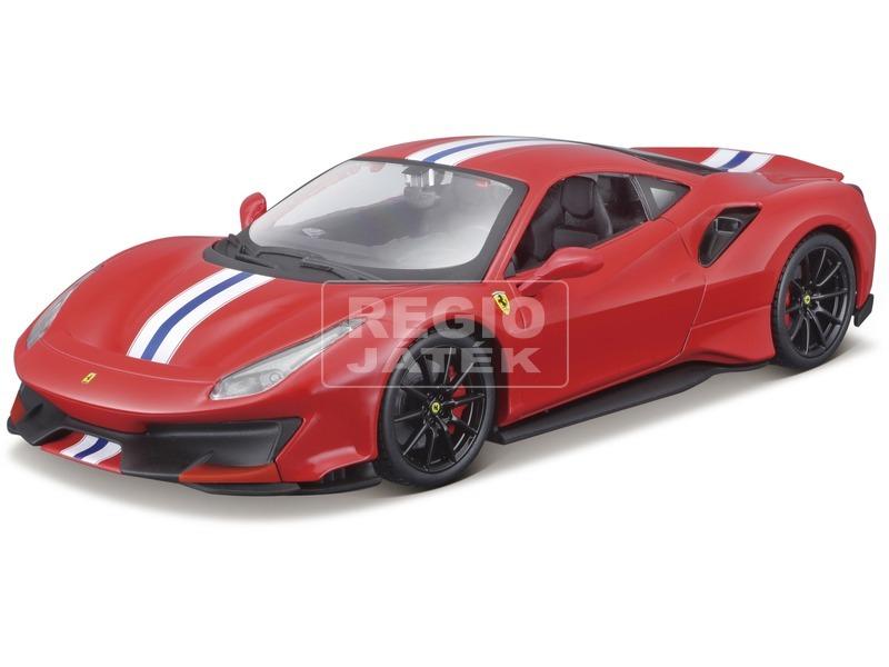 Bburago Ferrari 488 Pista versenyautó 1:24