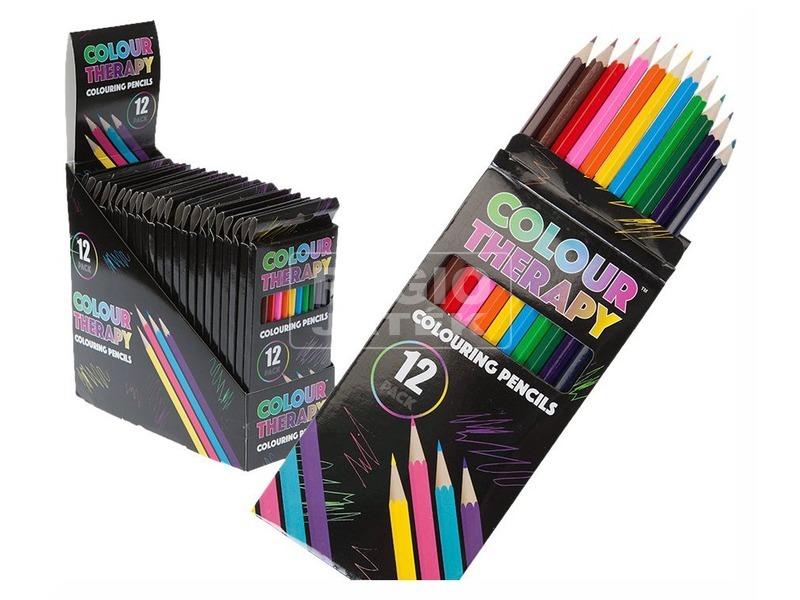 Színterápia színes ceruza 12 darabos készlet