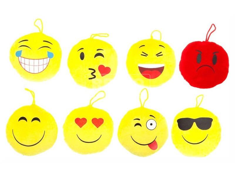 Smiley plüssfigura - 13 cm, többféle