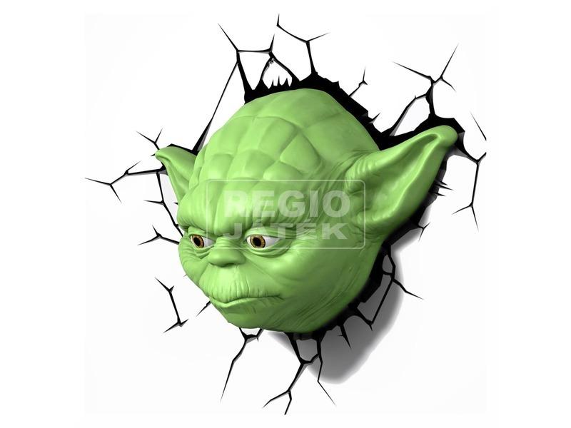 Star Wars: Az ébredő Erő 3D LED fali lámpa - Yoda
