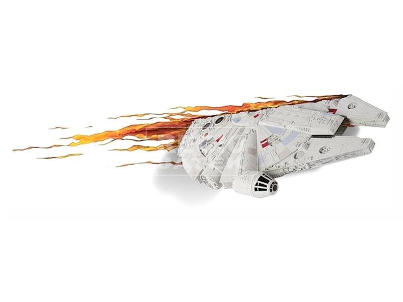 Star Wars: Az ébredő Erő 3D LED fali lámpa - Millenium Falcon