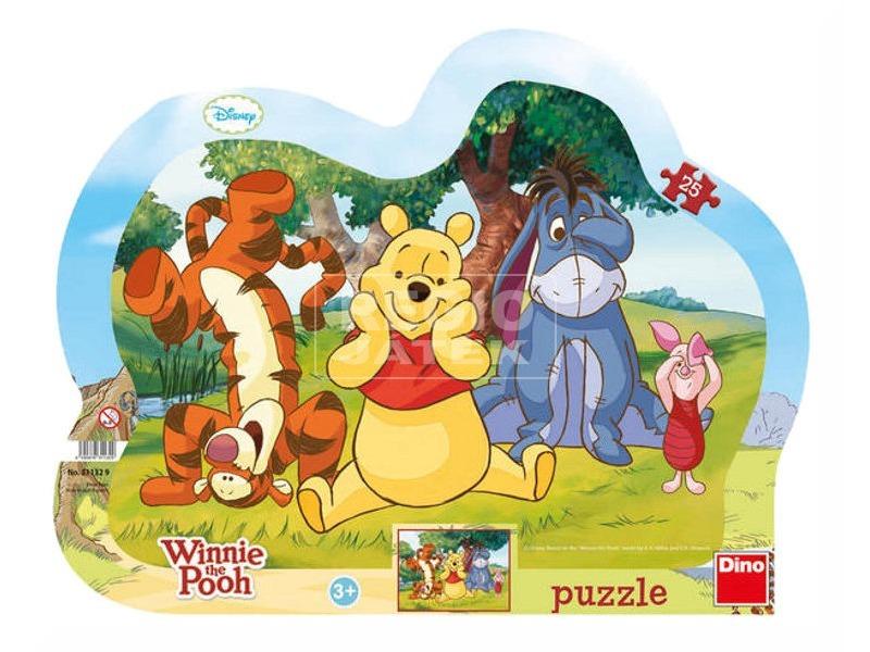 Micimackó bújócska 25 darabos puzzle