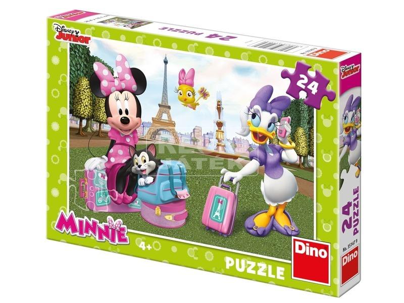 Minnie egér Párizsban 24 darabos puzzle