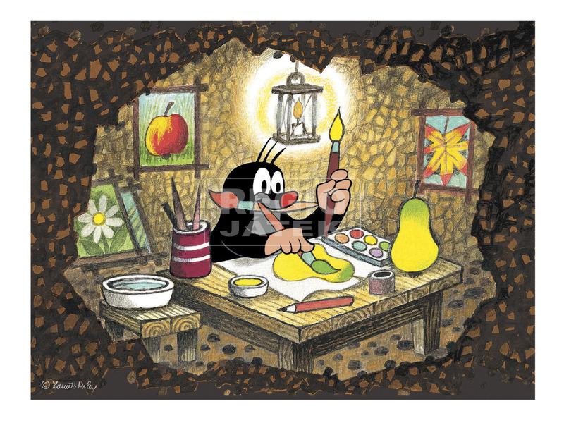 kép nagyítása Kisvakond és barátai 12 darabos fa mesekocka
