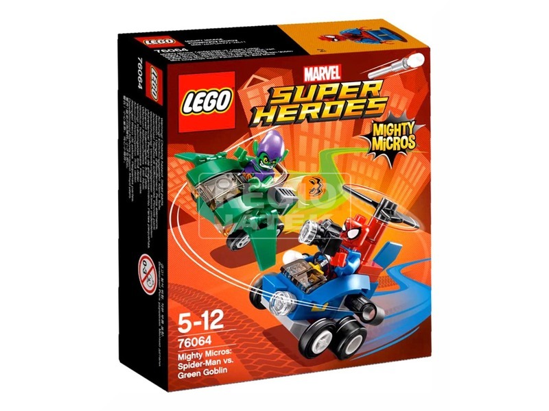 LEGO Super Heroes 76064 Mighty Micros: Pókember a Zöld Manó ellen