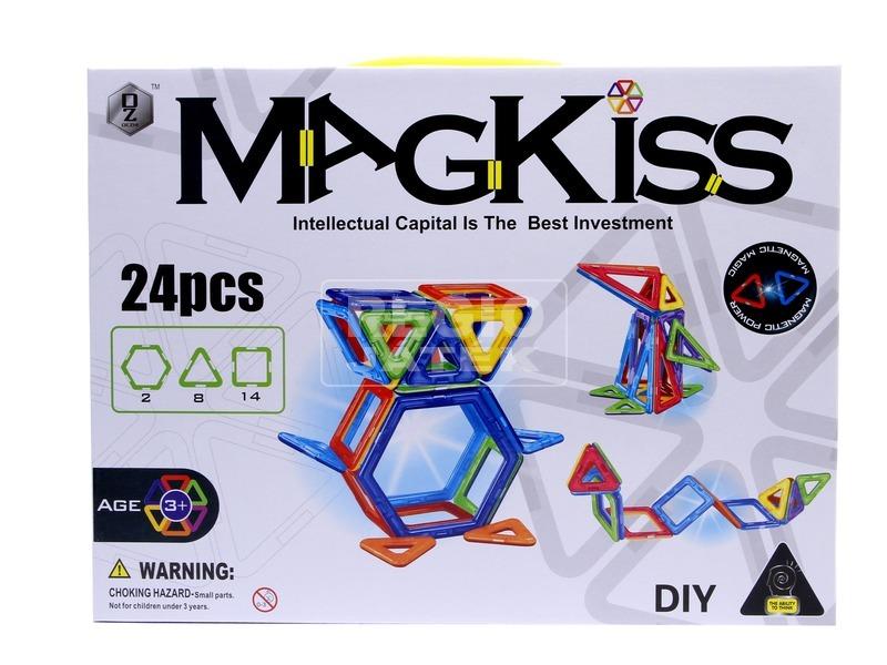 MagKiss 24 darabos mágneses építőjáték