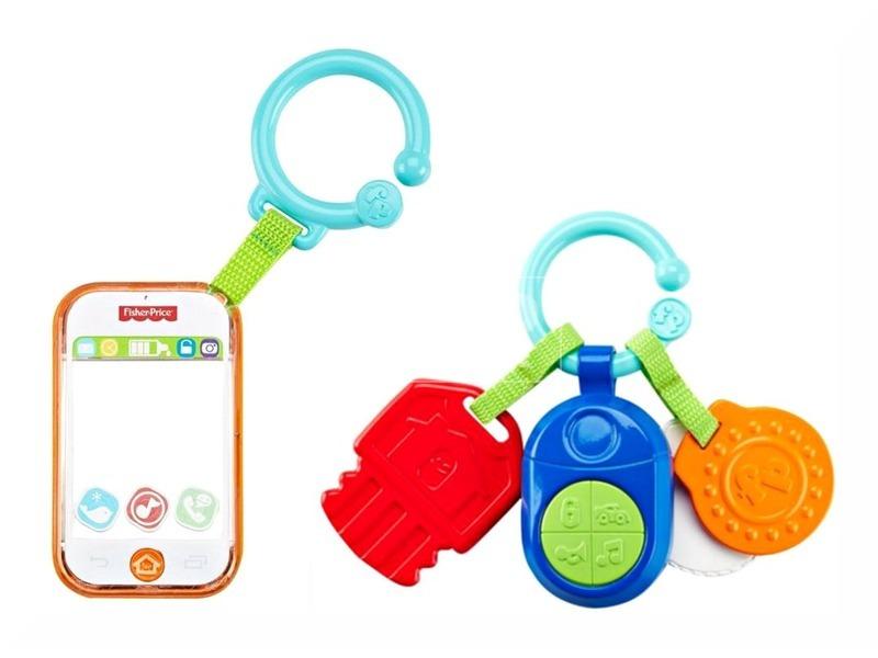Fisher-Price zenélő telefon-kulcs - többféle