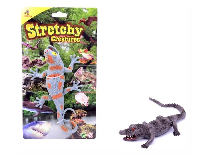 Nyújtható krokodil - 20 cm, többféle