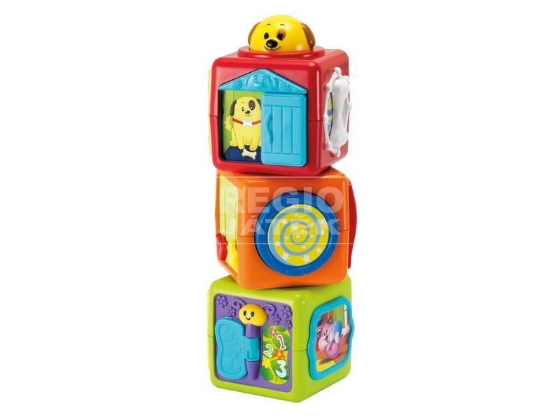 Állatos kockák toronyépítő bébijáték