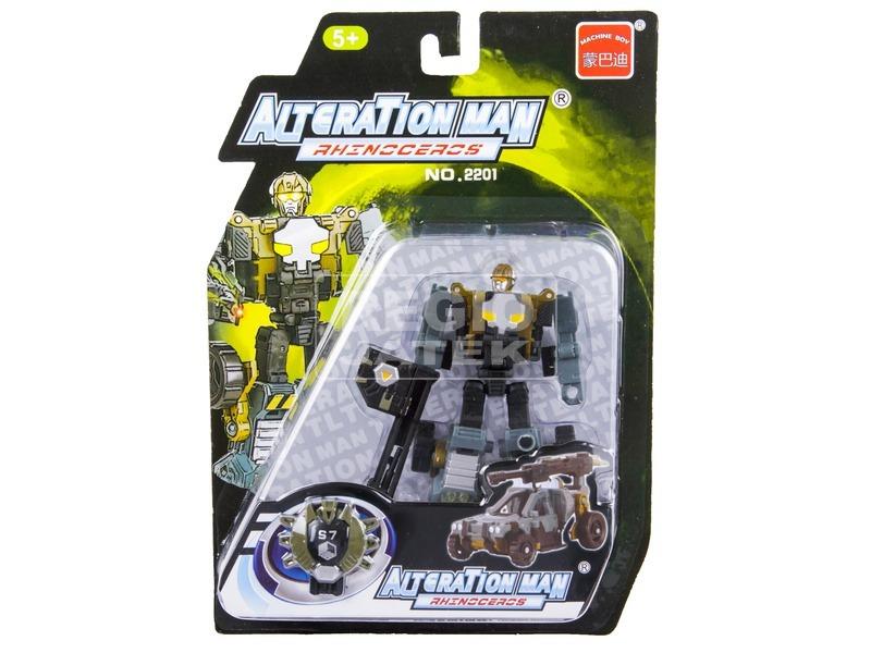 kép nagyítása Alteration Man Rhenoceros átalakuló robot - 10 cm