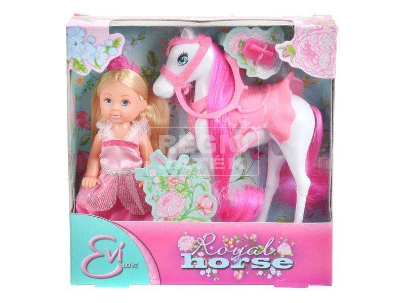 Évi hercegnő királyi lóval - 13 cm
