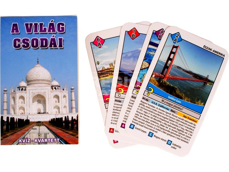 A világ csodái ismeretterjesztő kártya