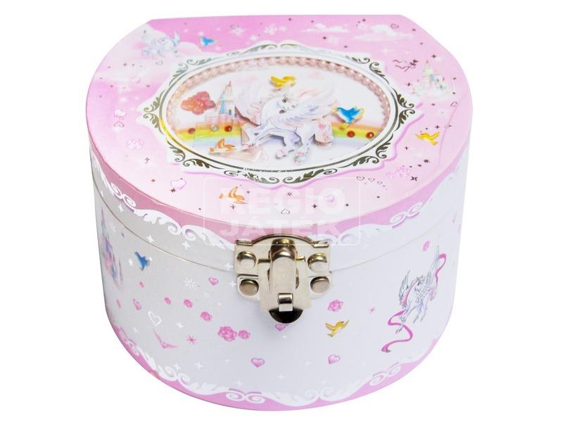 Hercegnős kerek zenélő doboz