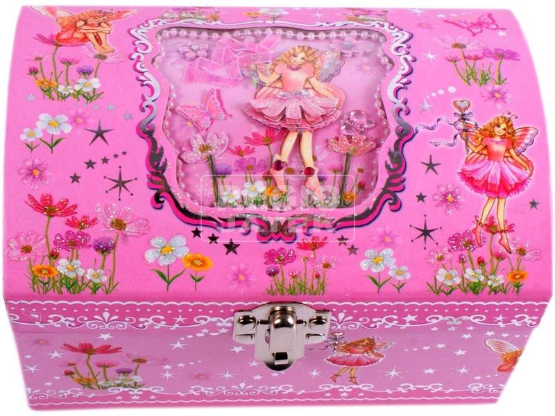 Tündéres ékszerdoboz tükörrel - rózsaszín