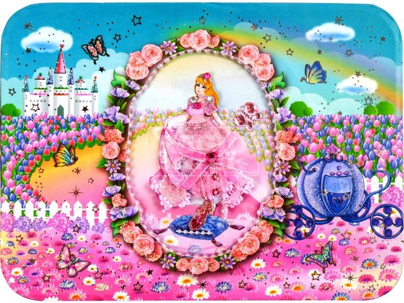 kép nagyítása Tükrös ékszerdoboz - hercegnős