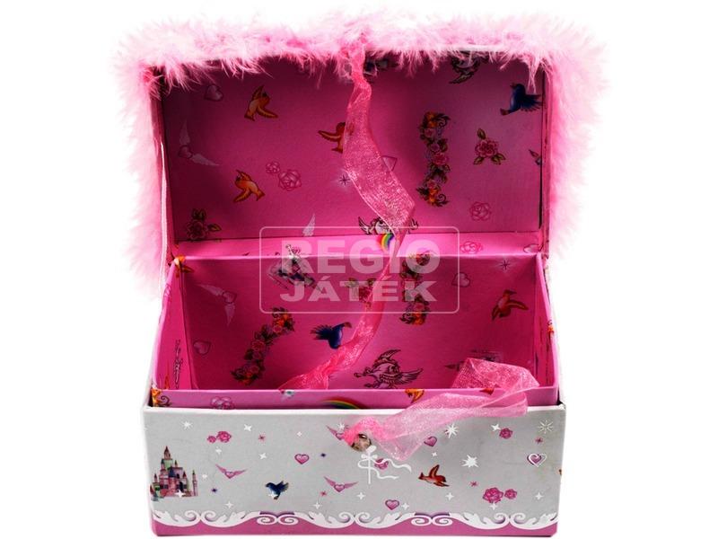 kép nagyítása Prémes ékszerdoboz - rózsaszín