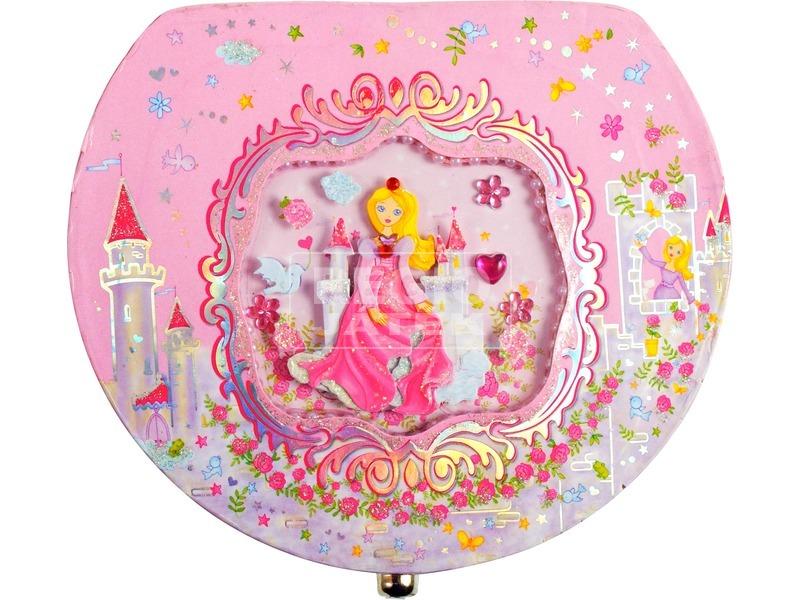 kép nagyítása Hercegnős félkör alakú zenélő ékszerdoboz