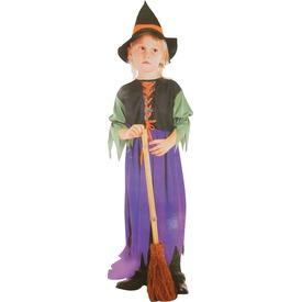Színes boszorkány jelmez - 116-os méret