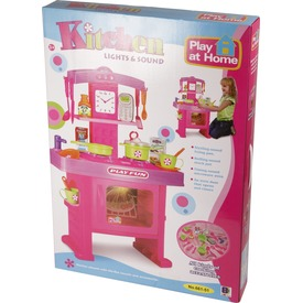 Játékkonyha hanggal és fénnyel - 63 cm, rózsaszín Itt egy ajánlat található, a bővebben gombra kattintva, további információkat talál a termékről.