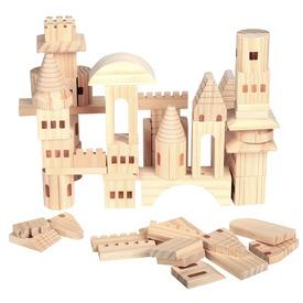 Fa vár építőkocka 69 darabos készlet