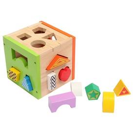 Fa formaválogató kocka készlet