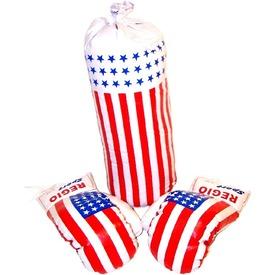 Amerikai zászló mintás bokszkészlet