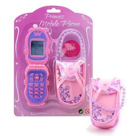Játék mobiltelefon tokkal - rózsaszín