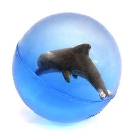 Delfines pattogó labda - 4 cm