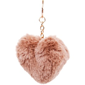 Szív pompom kulcstartó - többféle