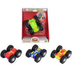 Dickie Crazy Flippy megfordulós autó, 4 féle szín