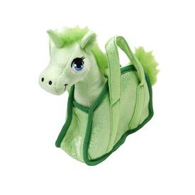 Unikornis plüssfigura táskában - 18 cm, többféle