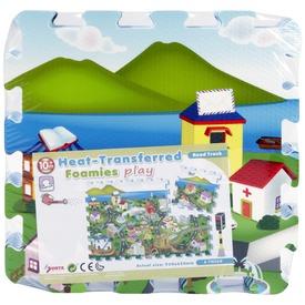 Város 6 darabos habszivacs szőnyeg puzzle