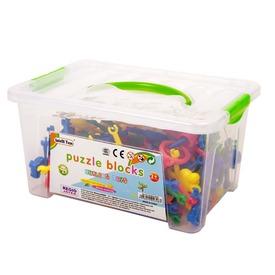 Műanyag építőjáték dobozban 85 darabos készlet
