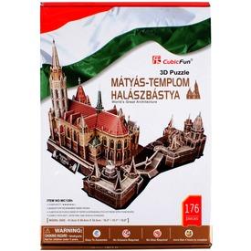 A Mátyás templom és a Halászbástya 176 darabos 3D puzzle