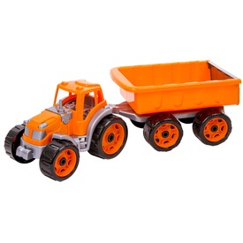 Műanyag traktor utánfutóval - 53 cm Itt egy ajánlat található, a bővebben gombra kattintva, további információkat talál a termékről.