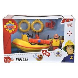 Sam a tűzoltó Neptun motorcsónak figurával