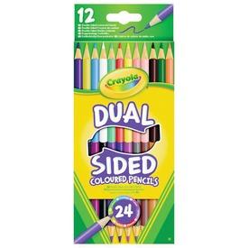 Crayola: Kétvégű színes ceruza 12 darabos készlet