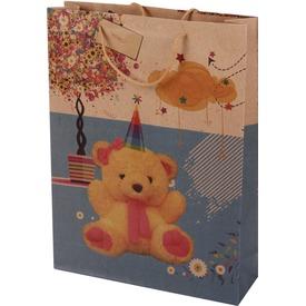 Macis és pillangós ajándéktáska - 31 x 42 cm