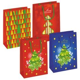 Karácsonyi ajándékzacskó - nagy, többféle